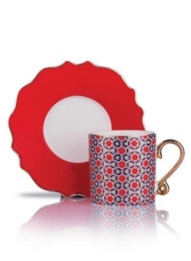Schafer Stilvoll Kahve Fincan Tak. Kırmızı